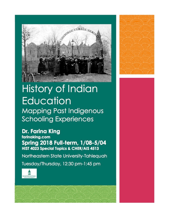History of Indian Education flyer