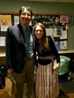 Navajo Nation Vice President Jonathan Nez with Farina King