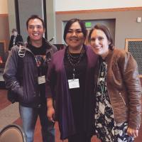 Eric Hardy, Madison Fulton, and Farina King at AISA 2017