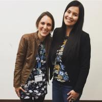 Farina King and Sandra Yellowhorse at AISA 2017