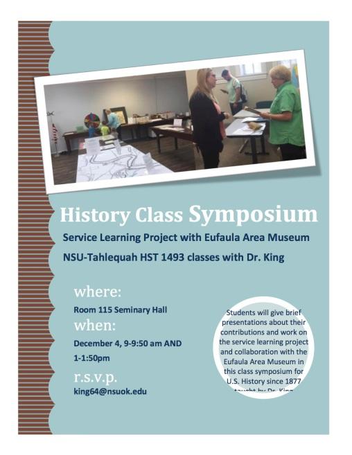 HST 1493 Class Symposium Dec 4