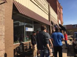 Students explore historic downtown of Eufaula
