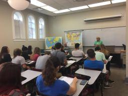 Linda Wendel, Eufaula Area Museum Director, visits NSU classes