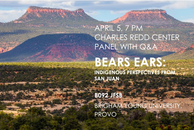Bears Ears Panel April 5 at BYU