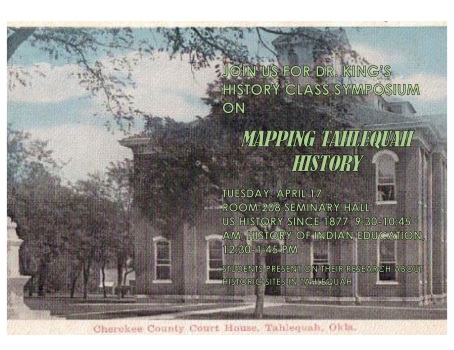 Mapping Tahlequah History Class Symposium