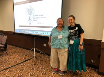 Farina King with her aunt Phyllis King at the History of Education Society 2018 conference