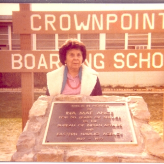 Ina Mae Ance honored for teaching 50 years at the Crownpoint Boarding School, Photo courtesy of Dorothy Webb (Ance's daughter)